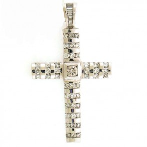 2.07ct Ladies Diamond Cross
