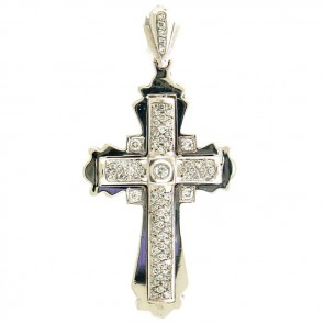 1.35ct Ladies Diamond Cross