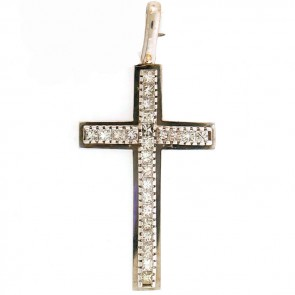 1.95ct Ladies Diamond Cross