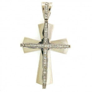 0.55ct Ladies Diamond Cross