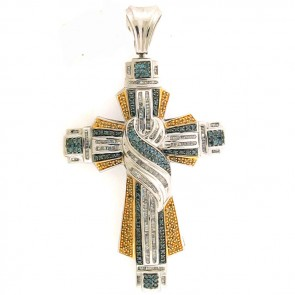 3.35ct Men's Diamond Cross