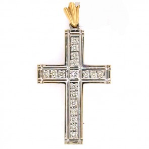 1.20ct Men's Diamond Cross