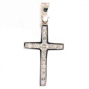 0.75ct Ladies Diamond Cross