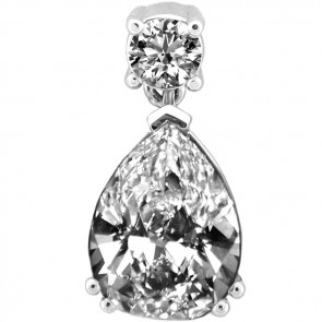 Ladies Diamond Pendant 14K White Gold