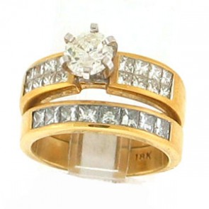2.10ct 2pc Engagement Ring