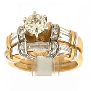 1.07ct 2pc Engagement Ring