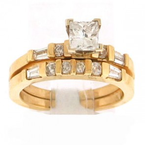 1.11ct 2pc Engagement Ring