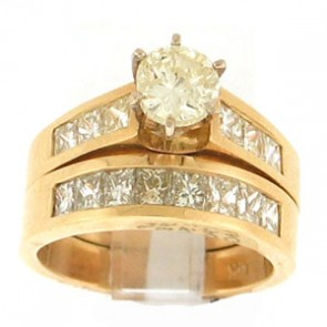 3.54ct 2pc Engagement Ring