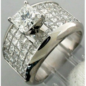 4.10Ctw Ladies Engagement Diamond Ring 18K